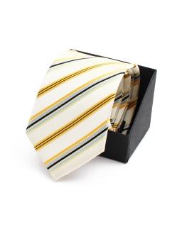 Okolicznosciowy krawat KR-21 zółty