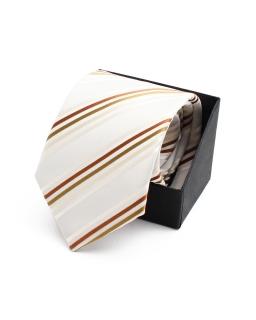 Finezyjny krawat wizytowy KR-23 ecru