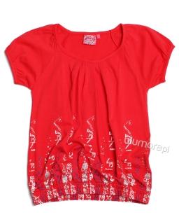 Bluzka bombka dla dziewczynki 122 - 158 bl05 czerwona