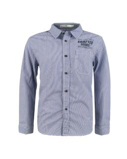 Bawełniana koszula młodzieżowa w paski 134-158 BCS-9676 jasnoniebieska