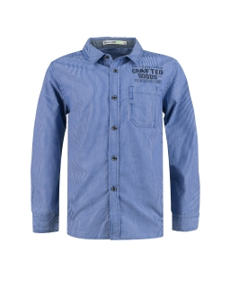 Pasiasta koszula dla chłopca 140-164 BCS-9676 niebieska