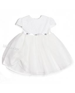 Prześliczna dziewczeca suknia z tiulem 92 - 116 Inez ecru
