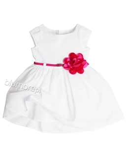 Przepiękna bawełniana sukienka 62 - 104 Pola biała