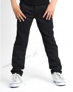 Eleganckie spodnie chłopięce 104 - 164 Bruno czarne