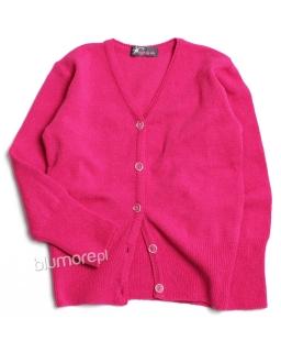 Zapinany sweterek dla dziewczynki 98 - 128 DZ-336 fuksja