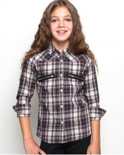 Świetna bawełniana koszula 116 - 146 GCS9764 kremowa