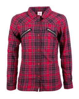 Kowbojska koszula w kratę 116 - 146 GCS9764 czerwona