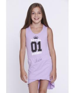 Wygodna sukienka na wakacje 116-128 GYQ-8634 fiolet
