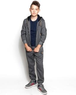 Ciepły dres dwuczęściowy bluza i spodnie 134-164 BLT-9867 grafit
