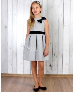Suknia na wiele okazji 128 - 158 Tina biało-czarna
