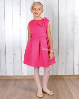 Stylowa sukienka dla dziewczynki 134 - 152 Tina fuksja