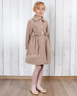 Ekskluzywny płaszcz zimowy dla dziewczynki 86 - 134 Kelly beż