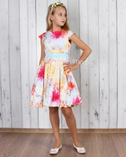 Olśniewająca sukienka wizytowa 128 - 152 Anita 2 multikolor