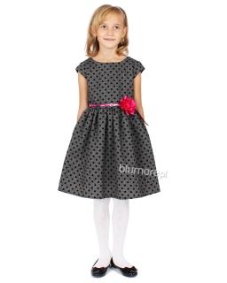 Urokliwa srebrzysta sukienka wizytowa 68 - 140 Lucyna 2 szara