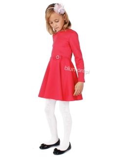 Wirująca sukienka z długim rękawem 80 - 140 Karolinka morela