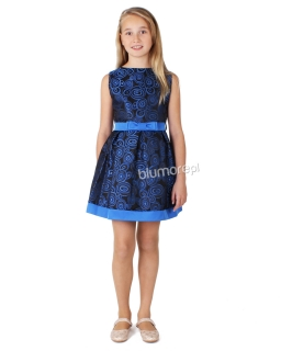Wyjątkowa sukienka w pawie oczka 134 - 158 Sabrina chabrowa