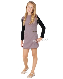 Sukienka o prostym kroju 134 - 158 Wiktoria fiolet