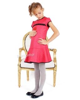 Bajerancka sukienka z falbanką 128-152 Daira róż