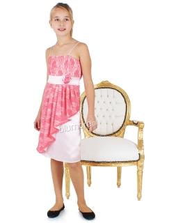 Koronkowa sukienka dla dziewczynki 146 - 152 Kamila morela