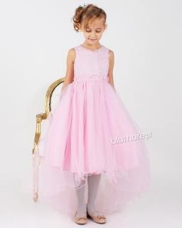 Asymetryczna sukienka dla dziewczynki 104 - 152 Valentina róż