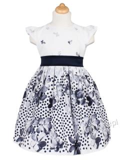 Urzekająca sukienka w kwiaty dla dziewczynki 86 - 116