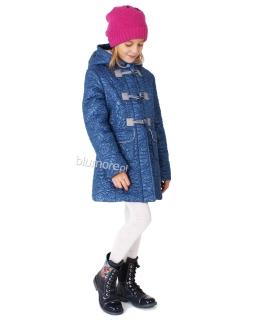 Zimowy płaszcz dziewczęcy 110 - 140 Dakota chabrowy