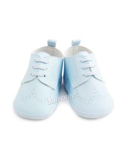 Sznurowane półbuty dla chłopca na chrzest 11-12 Kamil niebieskie