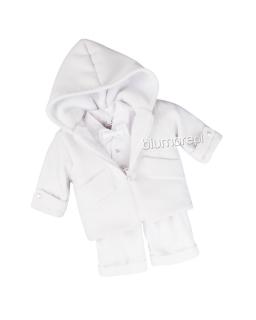 Praktyczny komplet dla chłopca do chrztu 62 - 68 Maciuś biały