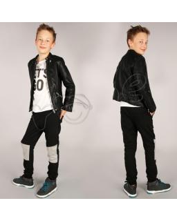 Modne spodnie dresowe na gumce 116 - 158 spd03 czarne