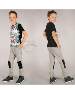 Spodnie dresowe dla chłopca 116 - 158 spd03 szare