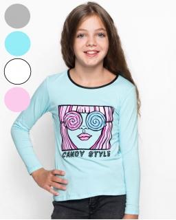 Wesoła bluzeczka na deszczowe dni 116 - 146 GCX-9930 cztery kolory