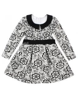 Retro sukienka na święta 104 - 140 Ilonka biało-czarna
