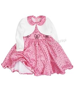 Balowa suknia i bolerko dla dziewczynki 86 - 128 Jowitka róż