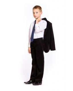 Czarne spodnie regularny sztruks dla chłopca 92 - 176
