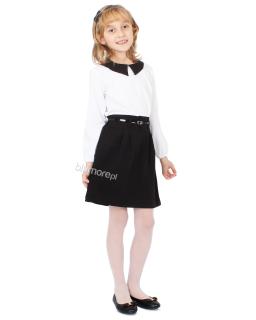 Wyjściowa sukienka na każdą uroczystość 116-152 Ilona biało-czarna