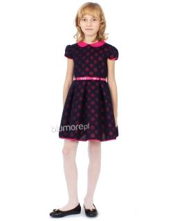 Efektowna sukienka 116-140 Mirabela różowa