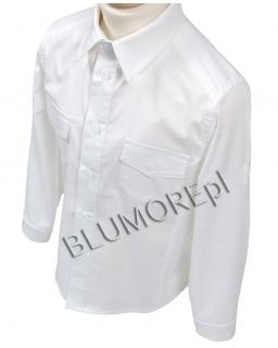 Biała koszula z podwijanym rękawem dla chłopca 92 - 164