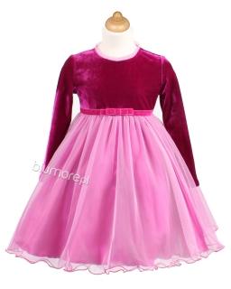 Piękna sukienka z baskinką 128-158 Marta dwa wzory