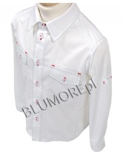 Biała elegancko - sportowa koszula dla chłopca 92 - 164