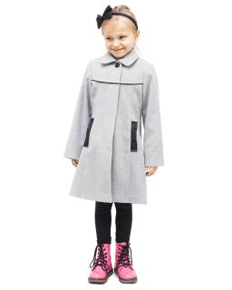 Klasyczny płaszcz 128-140 Marta szara
