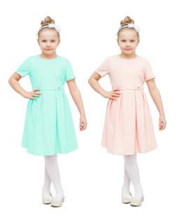 Interesująca rozkloszowana sukienka 122-152 Marzena dwa kolory