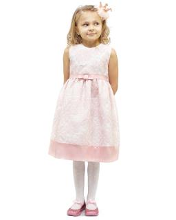 Rewelacyjna sukienka w kwiaty 116-134 Alexa różowy