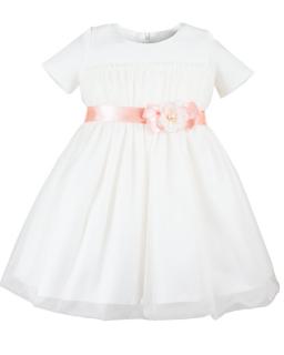 Interesująca sukienka 86-110 Nadia 1 kremowy