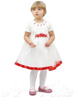 Ciekawa sukienka 86-110 Aurora 1 kremowy