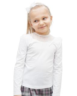 Bluzka w ozdobną koronkę 122-152 Kaja biały