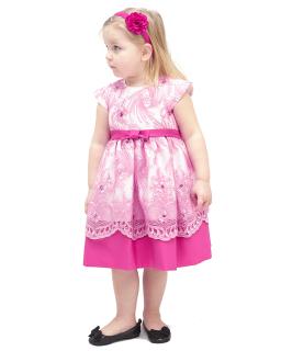 Wizytowa sukienka 86-128 Aniela amarant