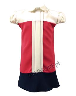 Sukienka z blokowym układem kolorów 152-158 Basia