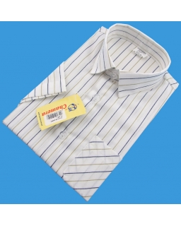 Koszula w prążki z krótkim rękawem dla chłopca 86 - 152