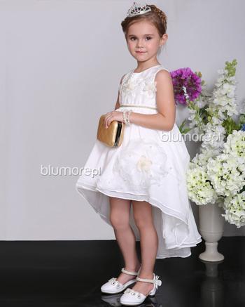 760e6da615 Piękna suknia balowa dla dziewczynki 100 - 140 Shami01 biel