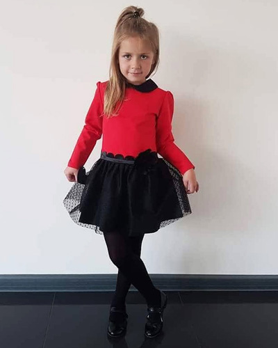 a1fd7671f9 Sukienki dla dziewczynek w kolorze czerwonym królują jesienią